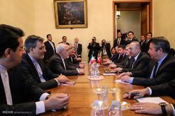 ظریف کی ماسکو میں ترک وزير خارجہ سے ملاقات اور گفتگو