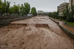 بارش شدید باران در تبریز