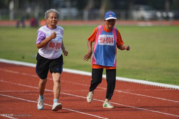 مسابقات ورزشی سالمندان در تایلند