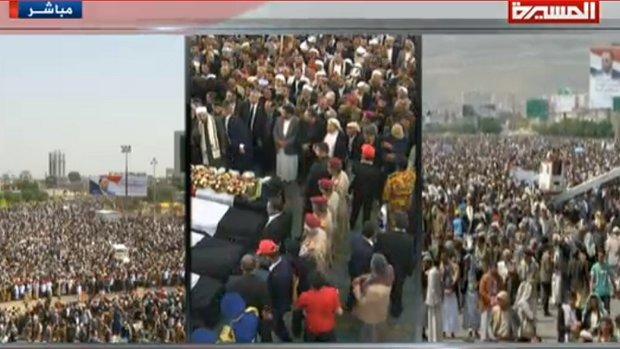 اليمن يودّع الرئيس الشهيد صالح الصماد في موكب جنائزي تاريخي