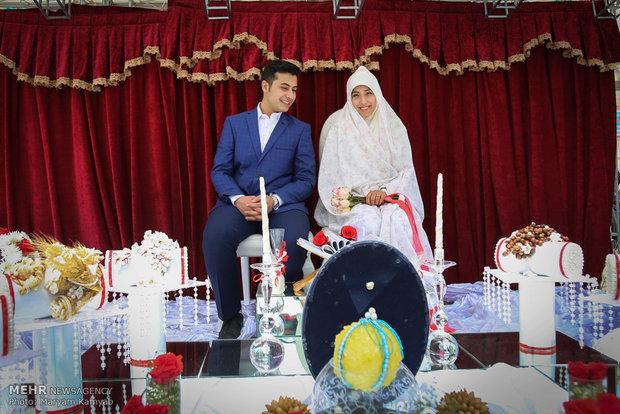 جشن ازدواج دانشجویی شاخه نبات برگزار می شود