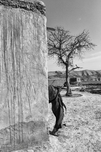 تازه گل غراوی کنار خانه خود در روستای نارلی آجیسو علیا ایستاده است. شوهر او بیکار و خانه نشین است و چهار فرزند دارد که به سختی زندگیشان را میگذرانند.