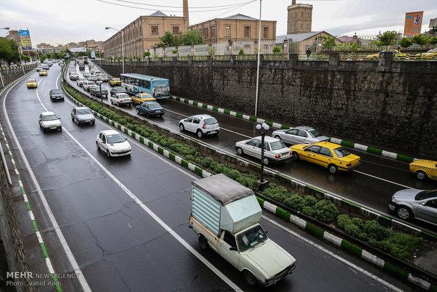Tebriz'de şiddetli yağmur