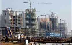 A view of new construction projects in Tehran