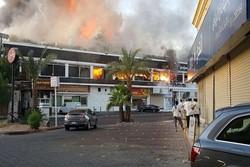 آتش سوزی در جده