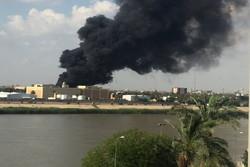 حریق در نزدیکی سفارت آمریکا در منطقه سبز بغداد