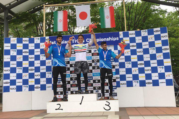 Iranian cyclists bag silver, bronze medals in 1st Asian Trails C'ships