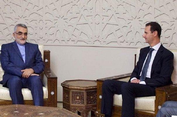 بروجردي يلتقي في دمشق الرئيس السوري بشار الاسد