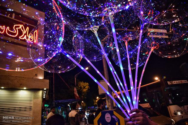 Iranians celebrating Imam Mahdi birth anniversary