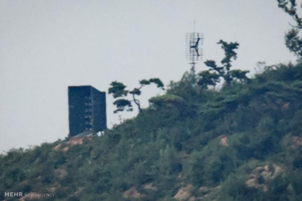 جمع آوری بلندگوهای تبلیغاتی از مرز دو کره