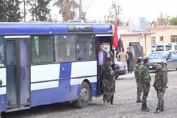 ورود اتوبوس ها به ۳ شهرک در حومه دمشق برای خروج دومین گروه از تروریستها