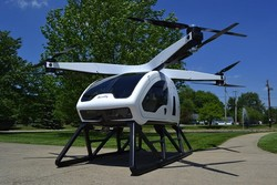 هلیکوپتر برقی ۲ نفره هم از راه رسید