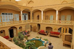 A view of Noghli House, a tradition eco-lodge in Kashan, central Iran.