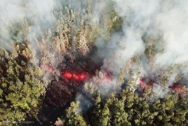 فوران آتشفشان در هاوایی