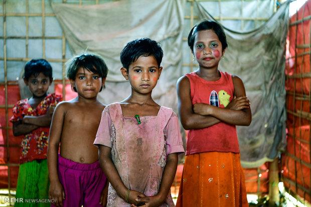 Arakanlı müslümanların zorlu kamp hayatı