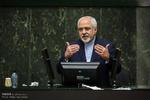 Zarif attends Parl. session on FATF, EU talks