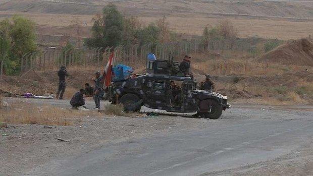 حشد الشعبی نے سامراء میں داعش دہشت گردوں کے حملے کو ناکام بنادیا