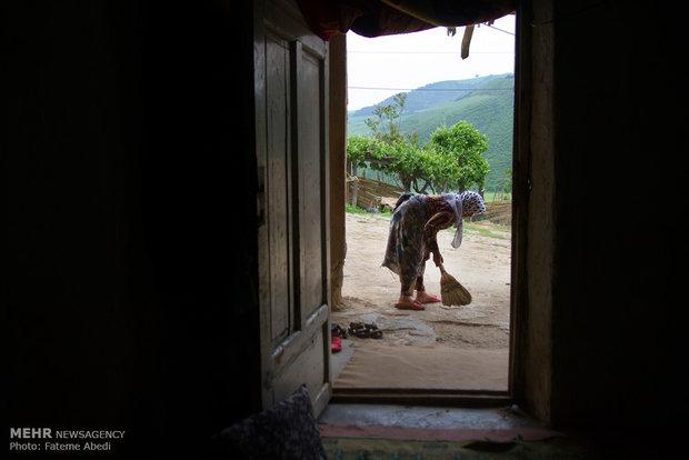 تمامِ مسؤلیت های خانه روی دوشِ رابعه میباشد.