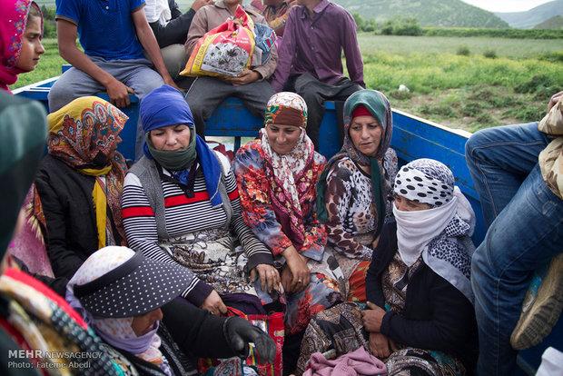 رابعه به همراه بسیاری از زنان و دختران وپسرانِ روستا ،از ساعت 6 صبح تا 4 بعدازظهر، به کارگری میروند.