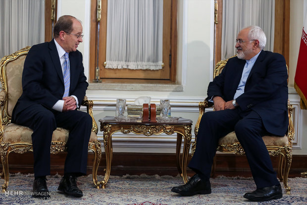 Zarif and New Zealand's ambassador to Tehran meet on Sun.