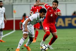 دیدار تیم های فوتبال پرسپولیس و الجزیره امارات