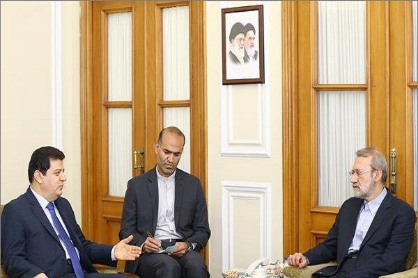 شام کے سفیر کی لاریجانی سے ملاقات