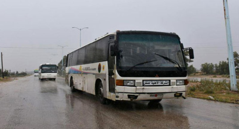 Convoy of rebels and civilians leaves Homs for Idlib