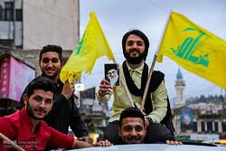 لبنان میں حزب اللہ کی انتخابات میں کامیابی کے بعد جشن