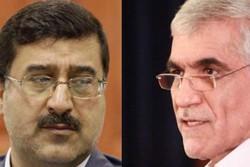 Samiollah Makarem Hosseini (L) Mohammad Ali Afshani and
