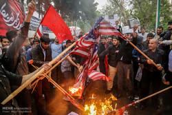 Tahran'da Donald Trump karşıtı protesto