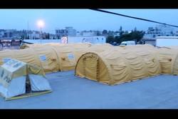 برپایی بیمارستان صحرایی۶۰ تخته آستان قدس رضوی برای زوار اربعین