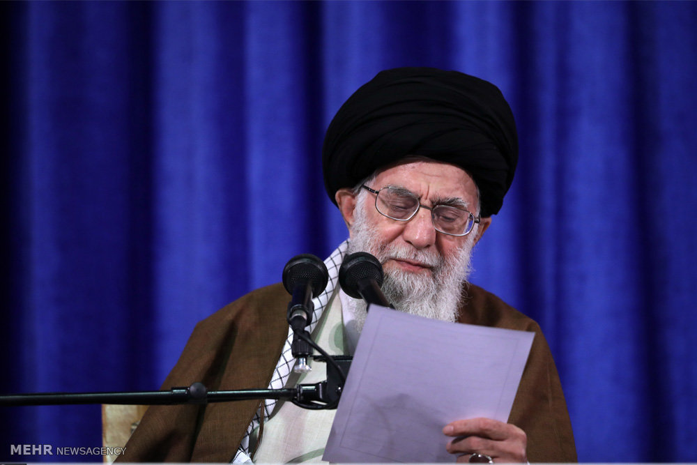 Iran's Supreme Leader posts Instagram pic reading 'Fire and Fury'
