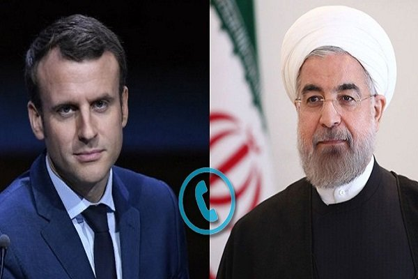 ایران اور فرانس کے صدور کی ٹیلیفون پر گفتگو/ مشترکہ ایٹمی معاہدے کو باقی رکھنے پر تاکید