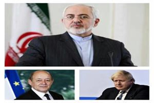 FM Zarif holds phone talks with UK, French counterparts