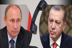 پوتین و اردوغان درباره تاسیس منطقه امن در سوریه گفتگو می کنند
