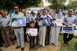 تظاهرات حاشدة في المدن الايرانية تشجب انسحاب امريكا من الاتفاق النووي