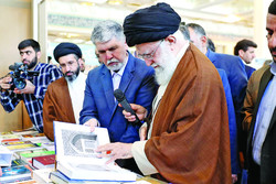 Leader of the Islamic Revolution Ayatollah Seyyed Ali Khamenei visits the 31st Tehran International Book Fair on May 11, 2018. (Leader.ir)