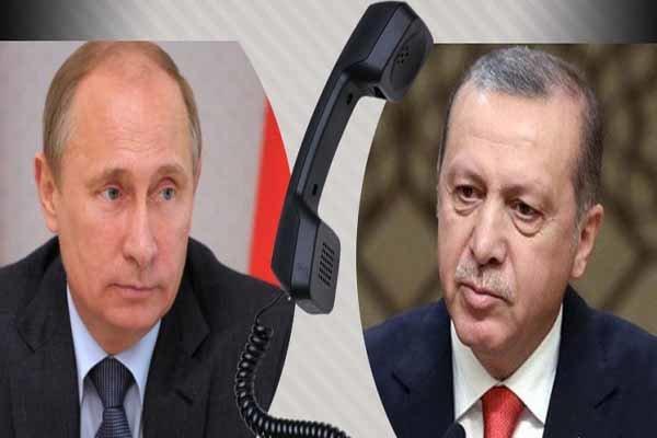 گفتگوی تلفنی پوتین و اردوغان درباره لیبی