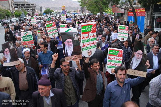 تظاهرات حاشدة في اراك تشجب انسحاب امريكا من الاتفاق النووي