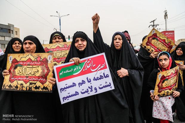 تظاهرات حاشدة في اهواز تشجب انسحاب امريكا من الاتفاق النوويا
