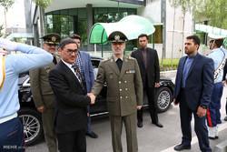 استقبال رسمی امیر حاتمی وزیر دفاع ایران از سپهبد طارق شاه بهرامی وزیر دفاع افغانستان