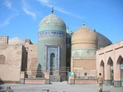 An exterior view of the Sheikh Safi al-din Shrine Ensemble