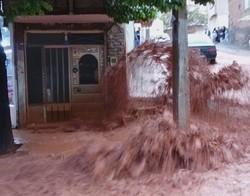فیلم/ بارش باران در تبریز باعث سیل شد
