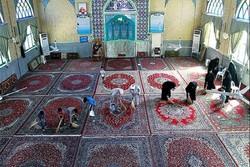 غبارروبی ۱۲۰۰ مسجد و اماکن مذهبی خراسان شمالی آغاز شد