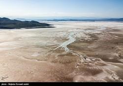 A photo of Urmia Lake taken in early April Mojtaba Esmailzadeh/ Tasnim