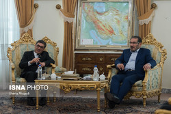 Iran's Secretary of Supreme National Security Council Ali Shamkhani meets Afghan Defense Minister Tariq Shah Bahrami