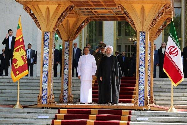 روحاني يستقبل نظيره السريلانكي