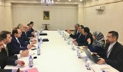 جابري انصاري والجعفري يبحثان التطورات السياسية والميدانية على الساحة السورية