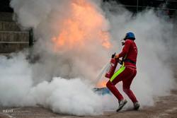 ۷۰ آتشنشان در شاهرود باهم رقابت کردند/ کرج قهرمان رقابت ها