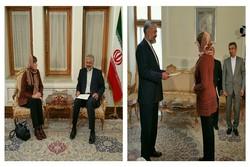 تقدیم رونوشت استوارنامه سفیر اکردیته استونی در تهران به قائم مقام وزارت خارجه